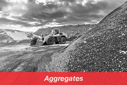 Gravel pit with heavy machinery