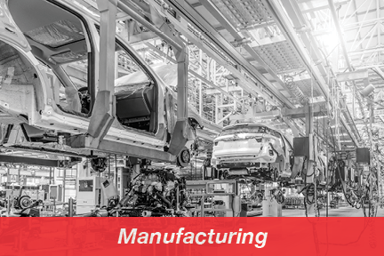 Cars on automated production line